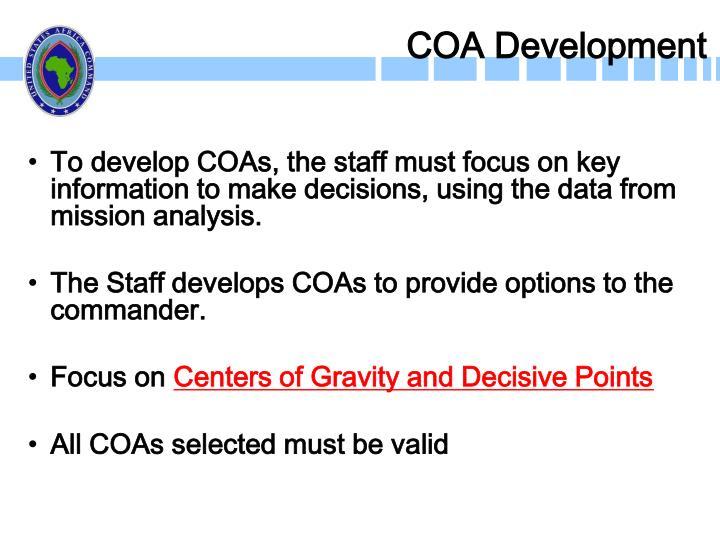 COA Development