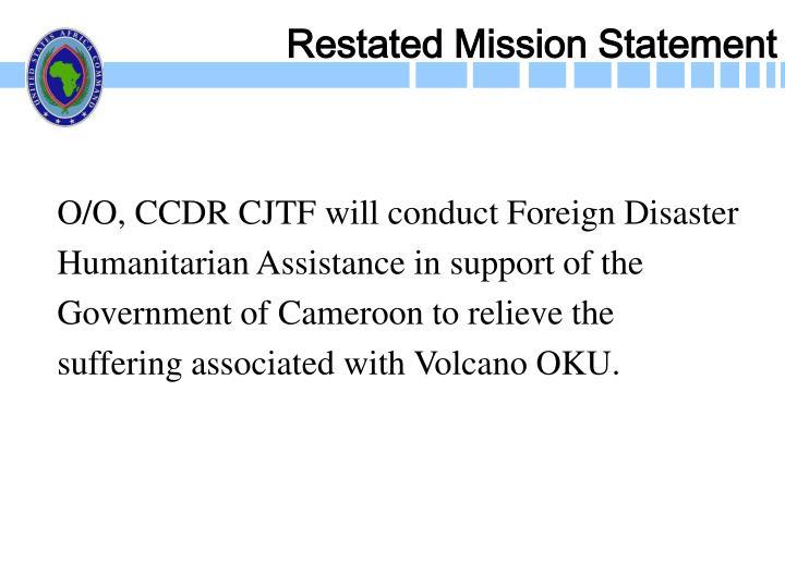 Restated Mission Statement