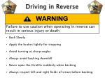 driving in reverse
