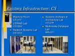 existing infrastructure cs