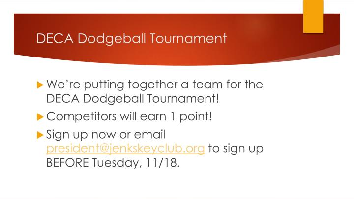DECA Dodgeball Tournament