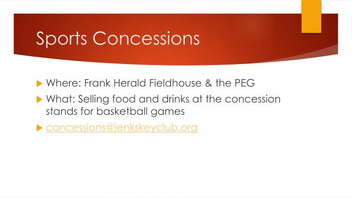 Sports Concessions