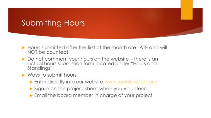 Submitting Hours