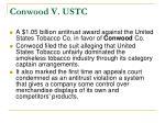 conwood v ustc