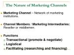 the nature of marketing channels