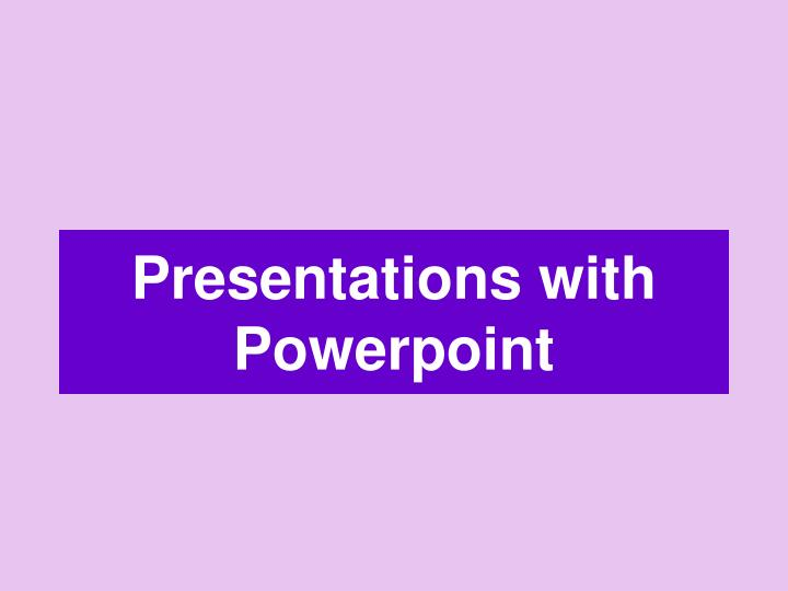 presentations with powerpoint n.