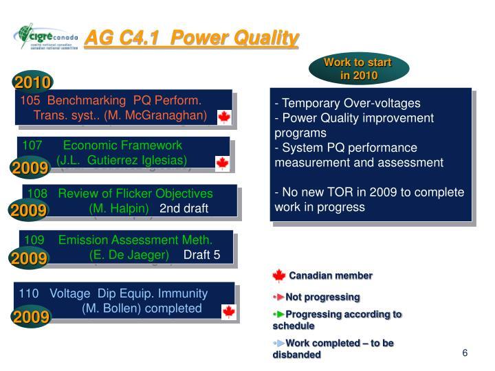 AG C4.1  Power Quality