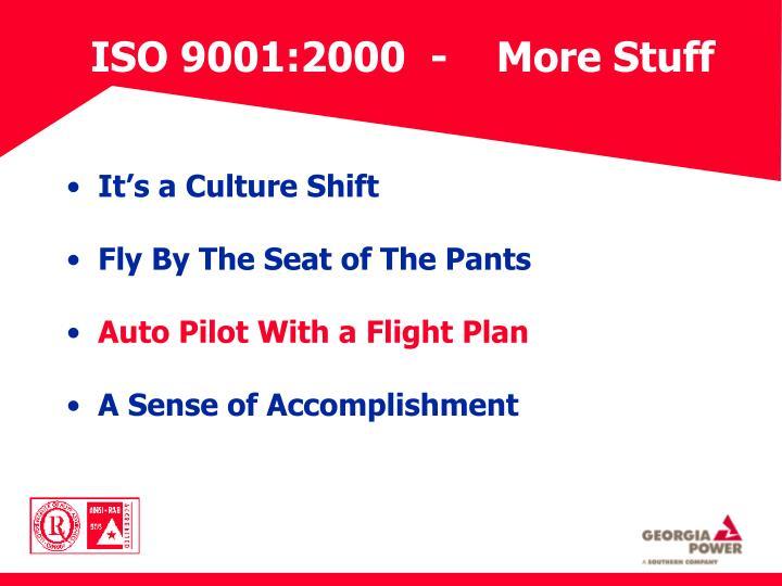 ISO 9001:2000  -    More Stuff
