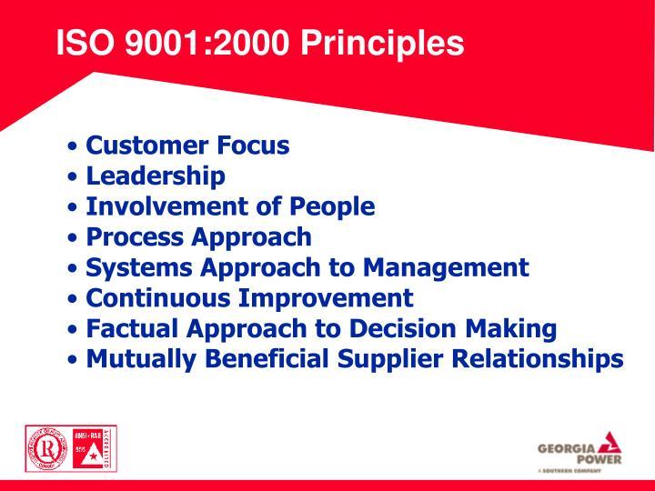 ISO 9001:2000 Principles