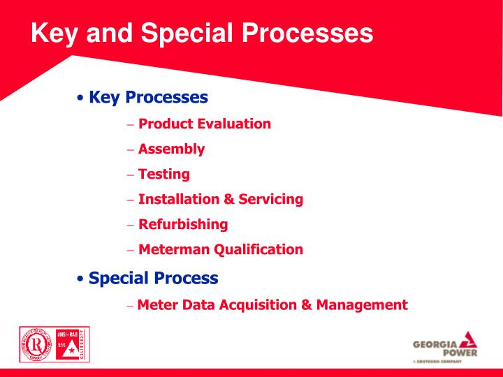 Key and Special Processes