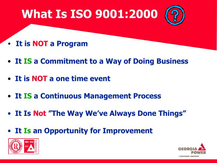 What Is ISO 9001:2000