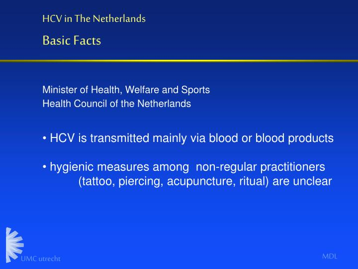HCV in The Netherlands