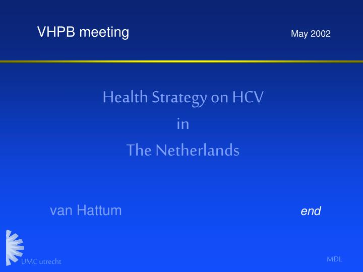 Health Strategy on HCV