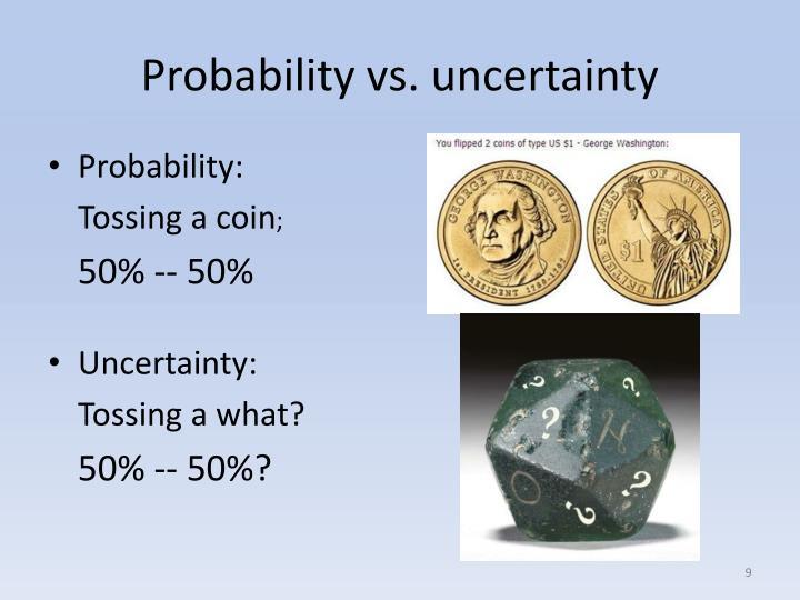 Probability vs. uncertainty