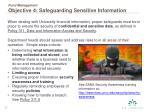 fund management objective 4 safeguarding sensitive information