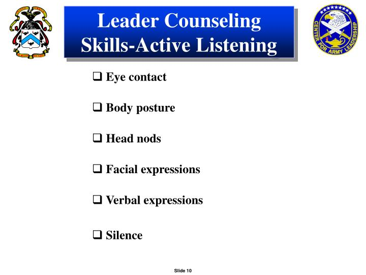 Leader Counseling Skills-Active Listening