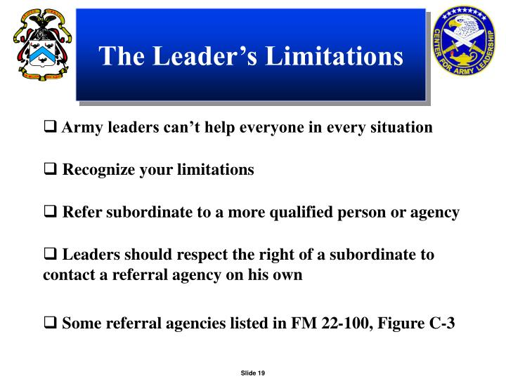 The Leader's Limitations