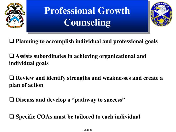 Professional Growth Counseling