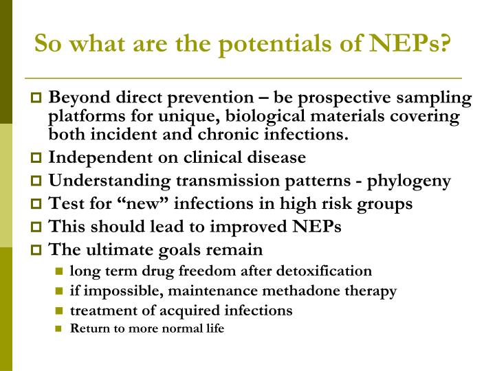 So what are the potentials of NEPs?