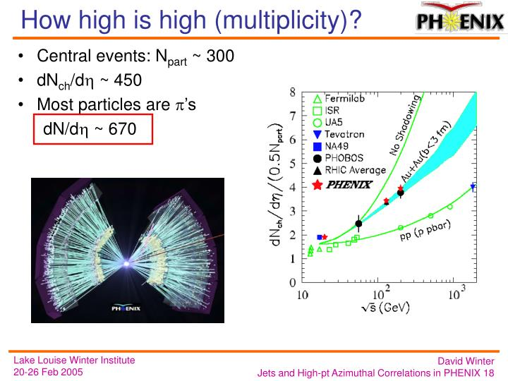 How high is high (multiplicity)?