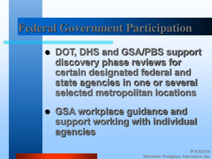 Federal Government Participation