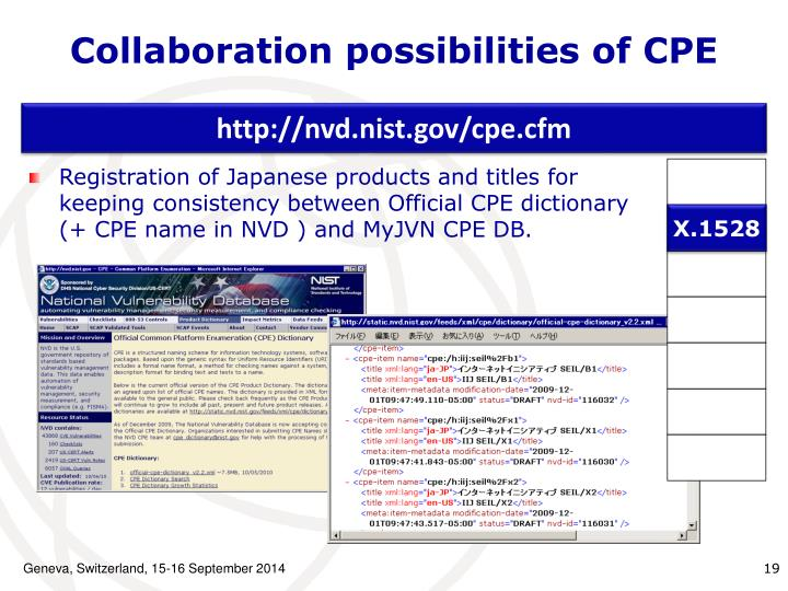Collaboration possibilities of CPE