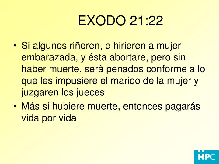 EXODO 21:22