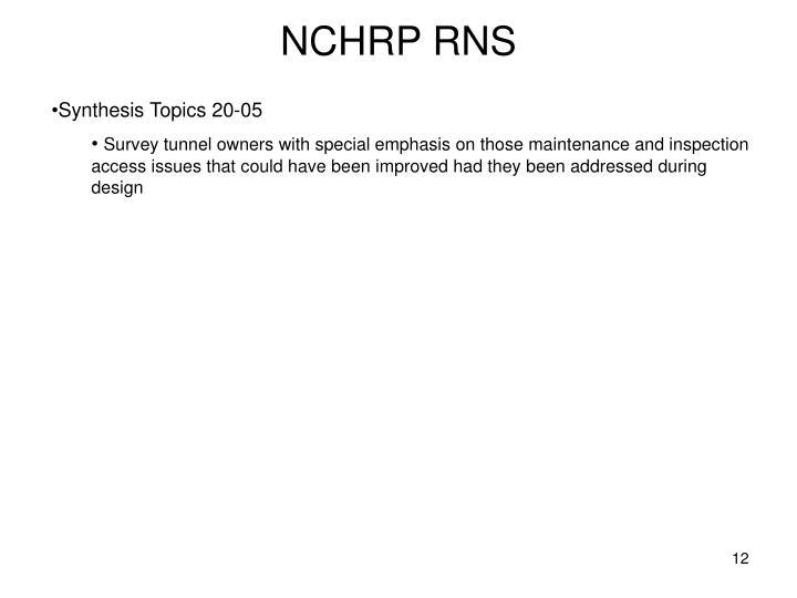NCHRP RNS