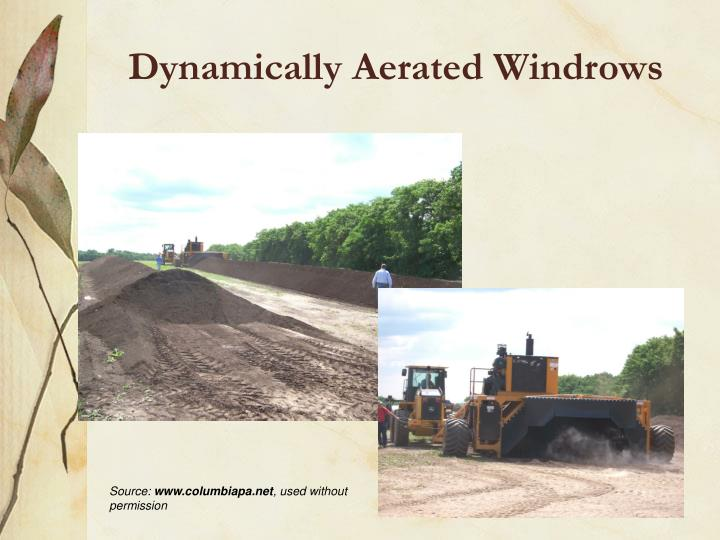 Dynamically Aerated Windrows
