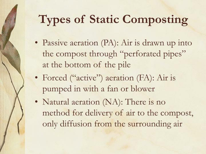 Types of Static Composting