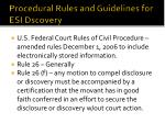 procedural rules and guidelines for esi dscovery