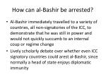 how can al bashir be arrested