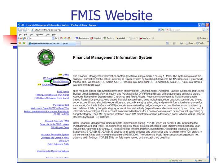 FMIS Website