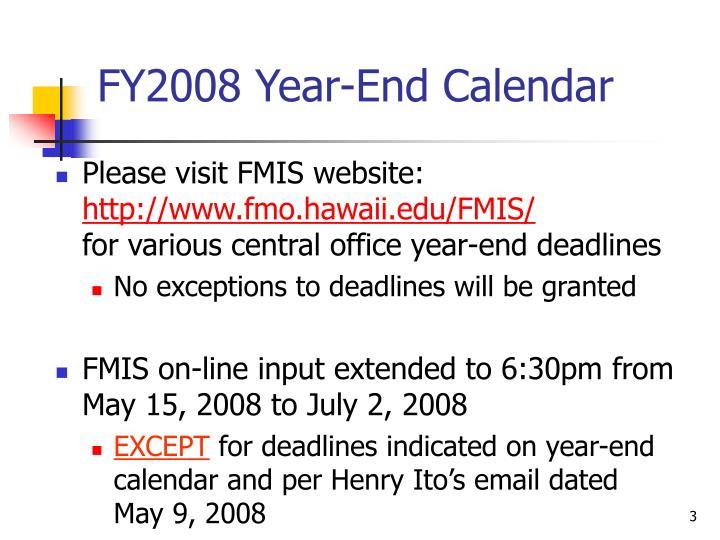 Fy2008 year end calendar
