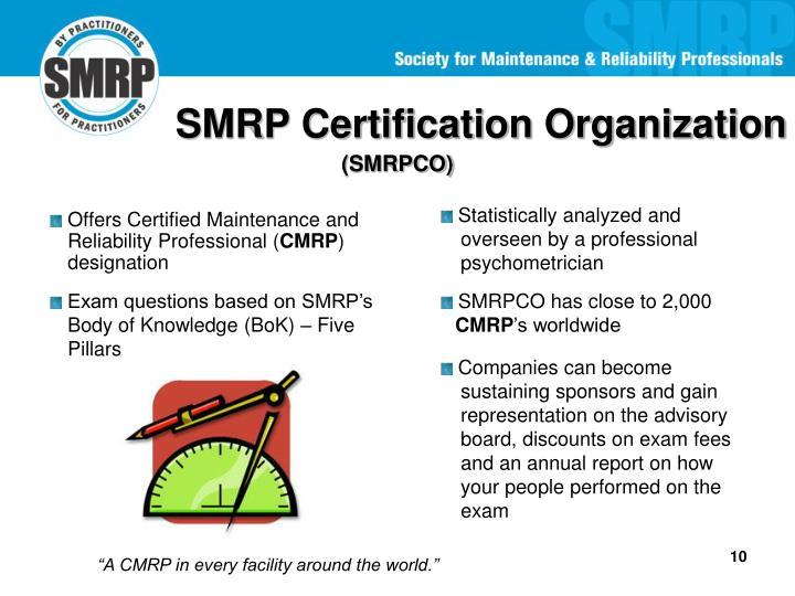 SMRP Certification Organization