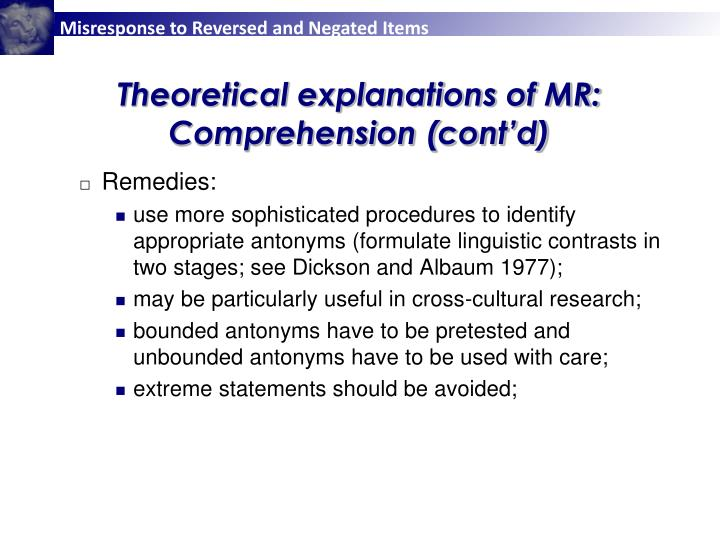 Theoretical explanations of MR: