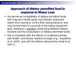 approach of dietary permitted food in response to fitness cues