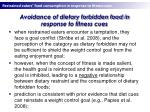 avoidance of dietary forbidden food in response to fitness cues