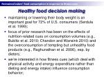 healthy food decision making