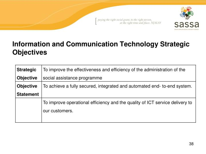 Information and Communication Technology Strategic Objectives