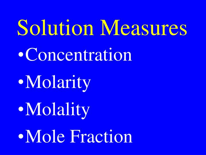 Solution Measures