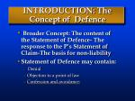 introduction the concept of defence
