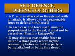 self defence defence of others