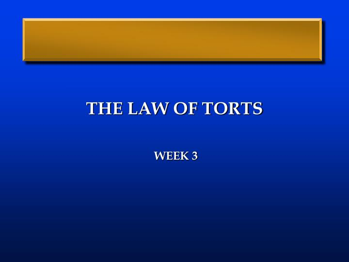 the law of torts n.
