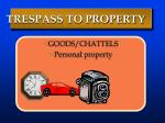 trespass to property2