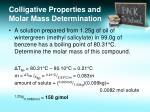 colligative properties and molar mass determination1