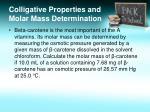 colligative properties and molar mass determination2