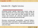 schedule vii eligible activities1