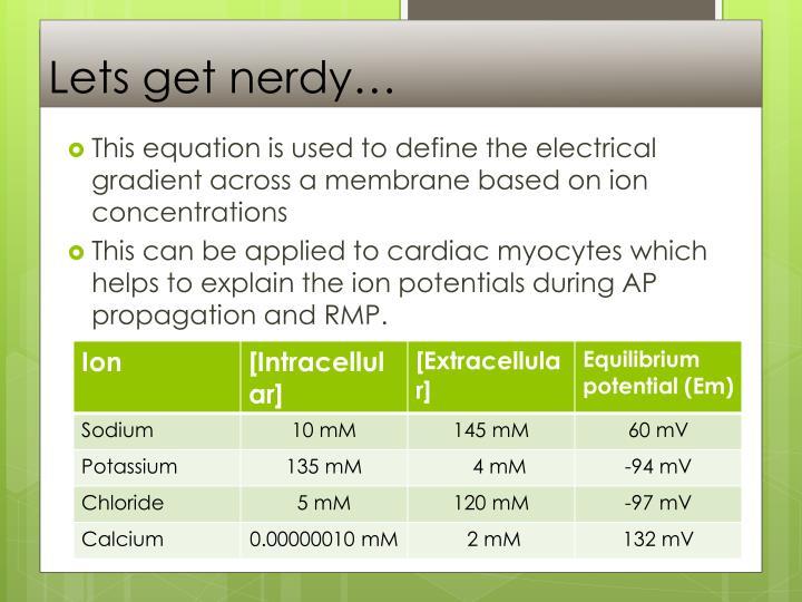 Lets get nerdy…