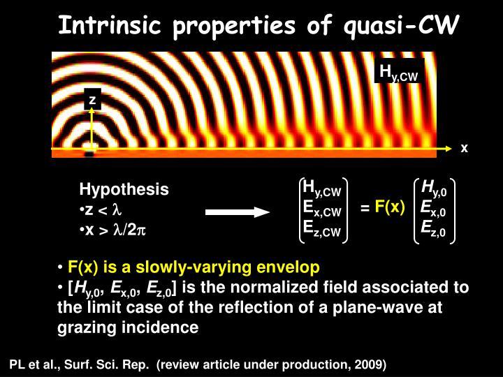 Intrinsic properties of quasi-CW